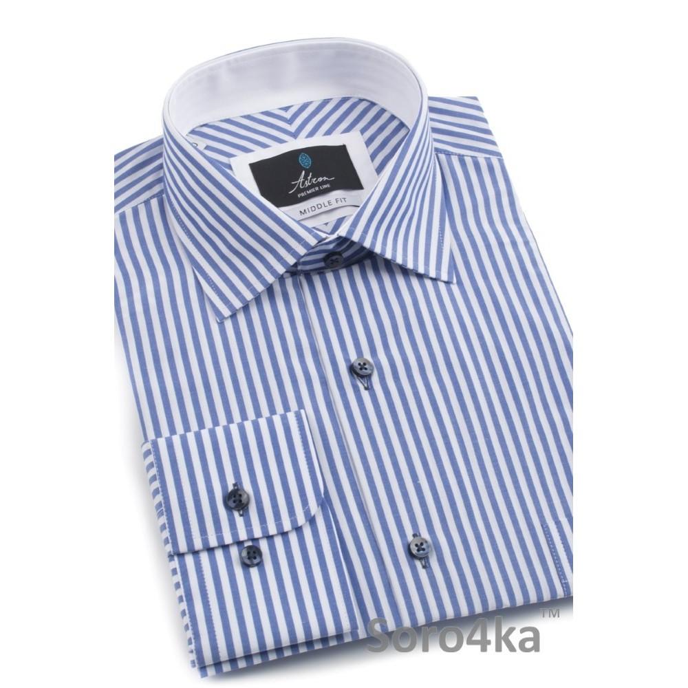 Синя сорочка в смужку Astron  e136d0a72cdfa