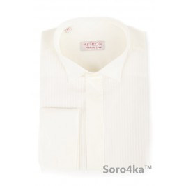 Гофрована сорочка на запонки під краватку метелик Astron