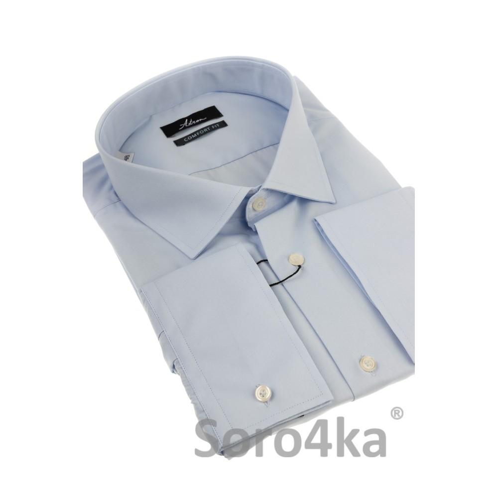 f28fced47b1 Голубая рубашка больших размеров с длинным рукавом Astron Premier Line