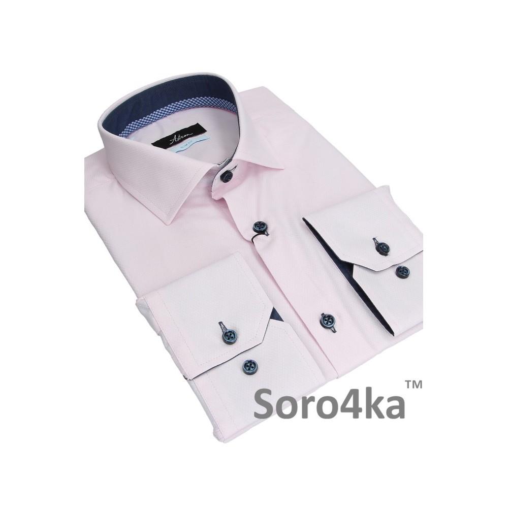 64e03a63754 Розовая приталенная рубашка Slim fit Astron
