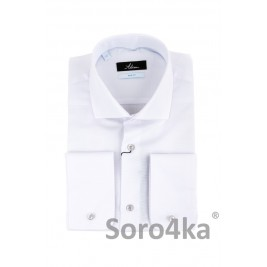 ТЕКСТУРНА БІЛА СОРОЧКА SLIM FIT ASTRON PREMIER LINE RELIEF DOT