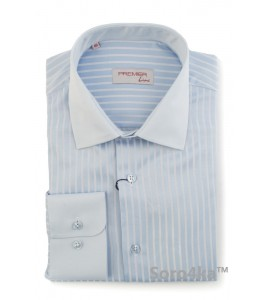 ГОЛУБАЯ РУБАШКА MIDDLE FIT ASTRON LIGHT BLUE PREMIER STRIPE