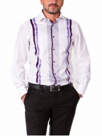 Сорочка Middle Fit Astron White&Purple It Premier Stripe
