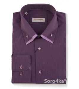 Фіолетова сорочка Astron в смужку