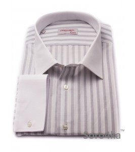 Велика Сорочка Middle Fit Astron Light Grey&White Wide Stripe