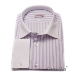 Велика Сорочка Middle Fit Astron Light Purple&White Wide Stripe