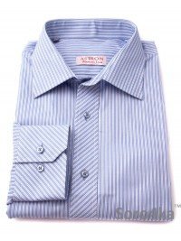 ГОЛУБАЯ РУБАШКА MIDDLE FIT ASTRON WHITE & LIGHT BLUE PREMIER STRIPE