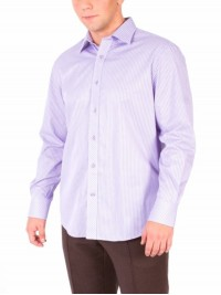 Сорочка Middle Fit Astron White&Purple Line Premier Stripe