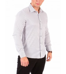 Сорочка Slim Fit Astron White&Grey Wide Stripe
