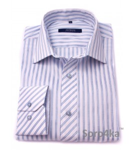 Сорочка Slim Fit Astron White&Light Blue Wide Stripe