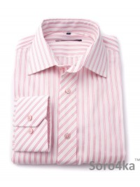Сорочка Slim Fit Astron White&Rose Wide Stripe