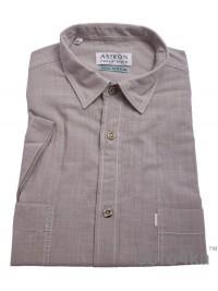 Сіра сорочка Astron Casual на короткий рукав