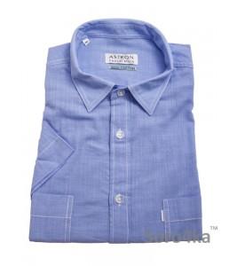Блакитна сорочка Astron Casual на короткий рукав
