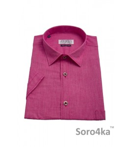 Рожева сорочка Casual Astron на короткий рукав