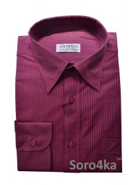 РОЗОВАЯ РУБАШКА Middle Fit Astron Casual Style Pink Stripe