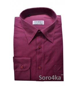 Рожева сорочка Middle Fit Astron Casual Style Pink Stripe