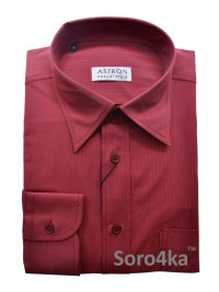 КРАСНАЯ РУБАШКА Middle Fit Astron Casual Style Red Stripe