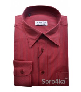 Червона сорочка Middle Fit Astron Casual Style Red Stripe