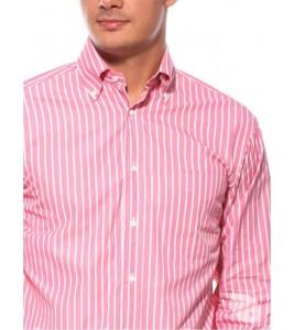 Стильна італійська рожева сорочка GUY ROVER (останній розмір 38)