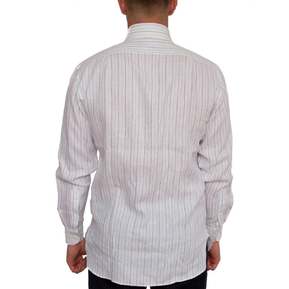 9988f156d81 Белая льняная рубашка Guy Rover