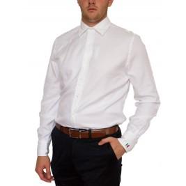 Елегантна італійська біла сорочка Guy Rover (останній розмір XXL)