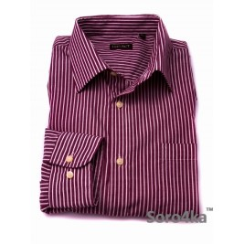 РОЗОВАЯ РУБАШКА CASUAL OVS PURPLE & WHITE STRIPE