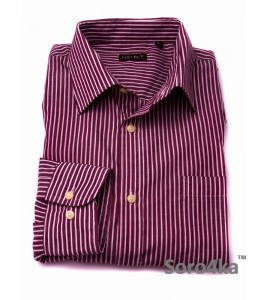 Сорочка Casual OVS Purple&White Stripe (останній розмір S)
