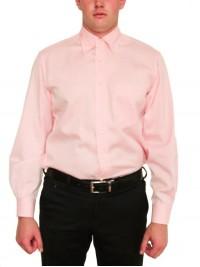 Рожева Фланелева італійська Сорочка ORIAN (останній розмір 40)