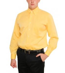 Жовта Фланелева італійська Сорочка ORIAN (останній розмір 40)