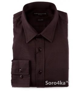 Модна чорна сорочка Slim fit Agressive&Black (останній розмір S)