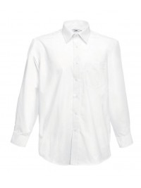 РУБАШКА БЕЛАЯ LONG SLEEVE POPLIN SHIRT