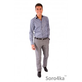 СЕРАЯ РУБАШКА SLIM FIT FABRIK STYLE GREY STRIPE