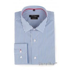 Сорочка голуба в смужку Slim Fabrik Style