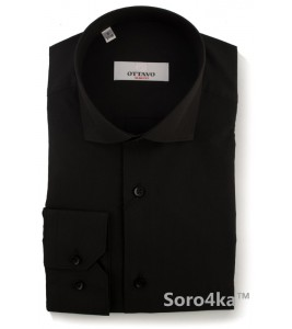 Чорна класична сорочка Slim fit Ottavo