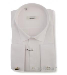 Класична біла сорочка на запонки Bonjolly
