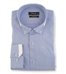 Стильна голуба сорочка Slim fit Brendoff
