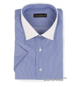 ГОЛУБАЯ РУБАШКА MIDDLE FIT CAMMINARE BLUE COMBI COLLAR