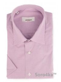 Рожева сорочка на короткий рукав Slim fit Ottavo