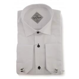 Біла сорочка на запонки Pierre Martin