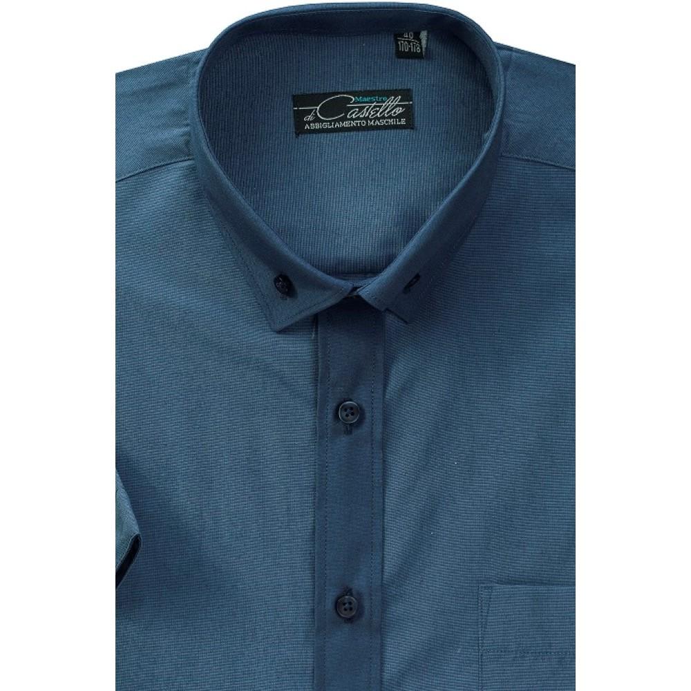 Темно-синя класична сорочка Maestro di Castello на короткий рукав 4322702b1228f