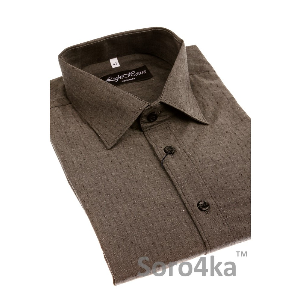 7b94d051e33 Купить серую полуприталенную мужскую рубашку LightHouse бренд. Бесплатная  доставка по Украине
