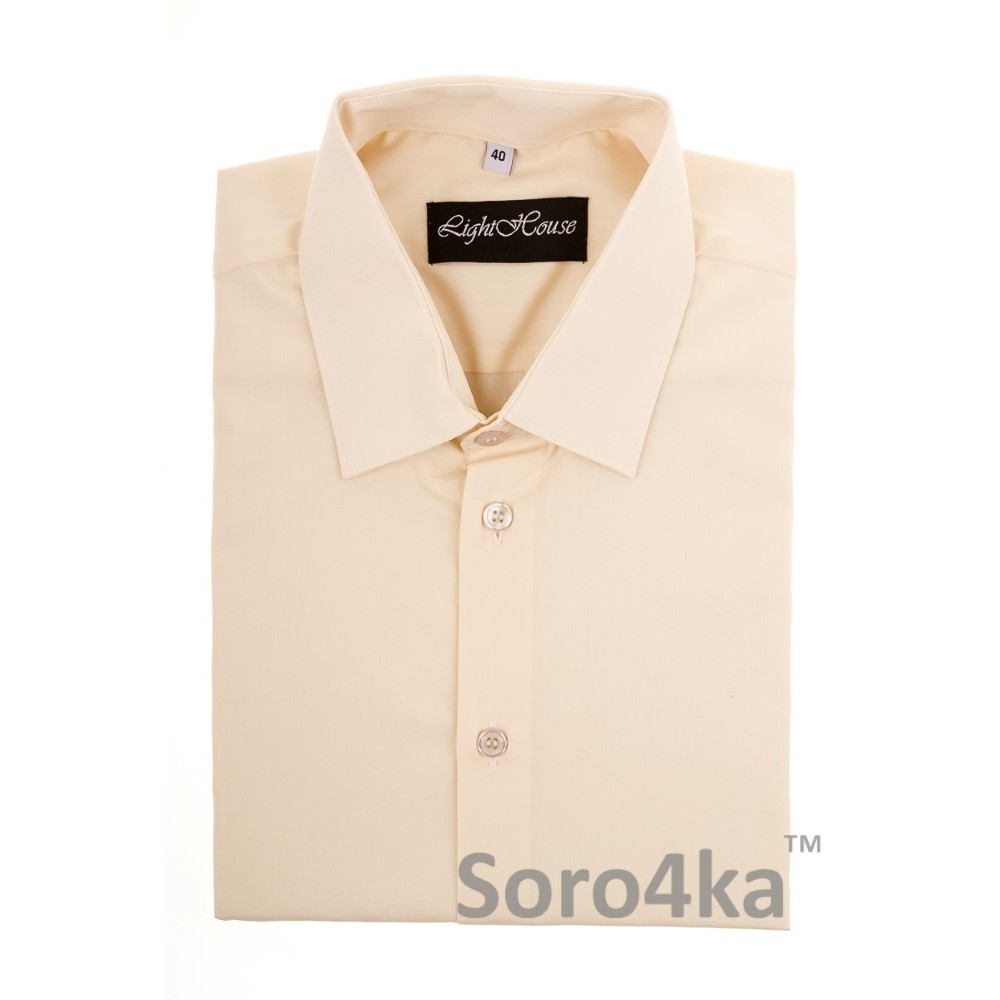dfbeec6726b Купить бежевую классическую мужскую рубашку Light House бренд. Бесплатная  доставка по Украине