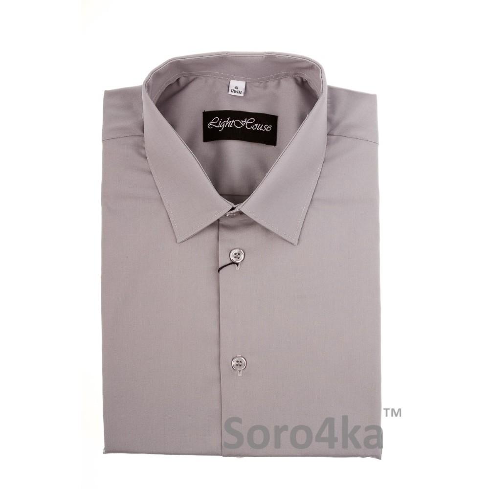 49dfa73c2e4 Купить серую классическую мужскую рубашку LightHouse бренд. Бесплатная  доставка по Украине