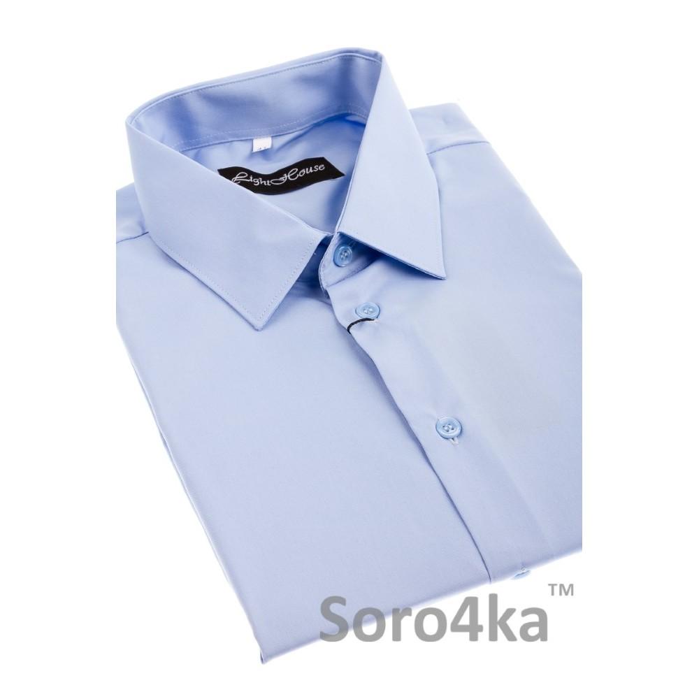 Купити блакитну пряму чоловічу сорочку Light House бренд ... f171a9e231510