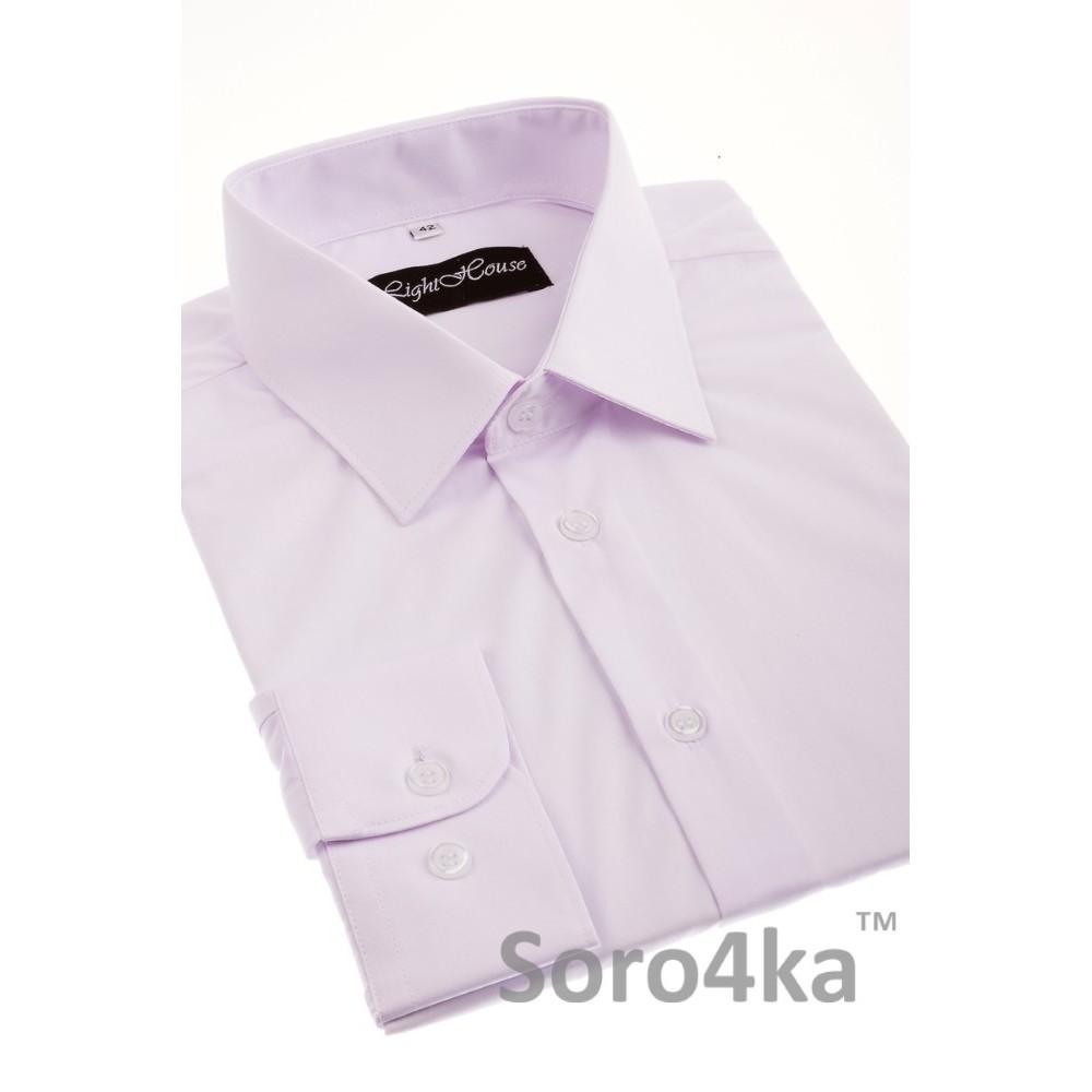 Купити білу напівприталену чоловічу сорочку Light House бренд. Безкоштовна  доставка по Україні aa9908ba0f5bb