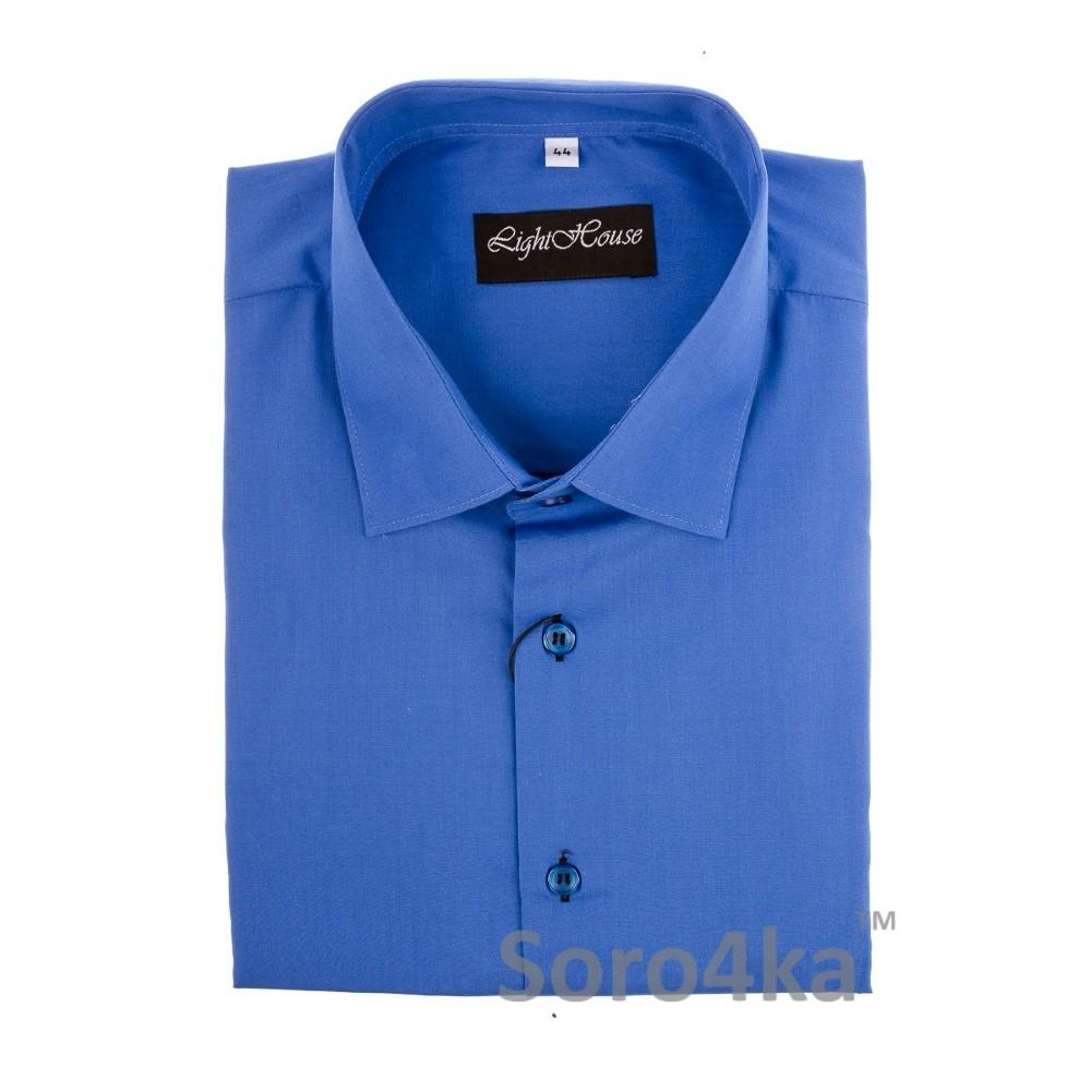 Купити синю пряму чоловічу сорочку Light House бренд. Безкоштовна ... 366f80d301aae