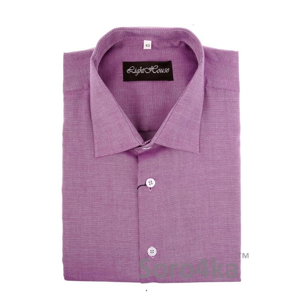 Купить фиолетовую прямую мужскую рубашку Light House бренд ... 49c7dc2e74c21