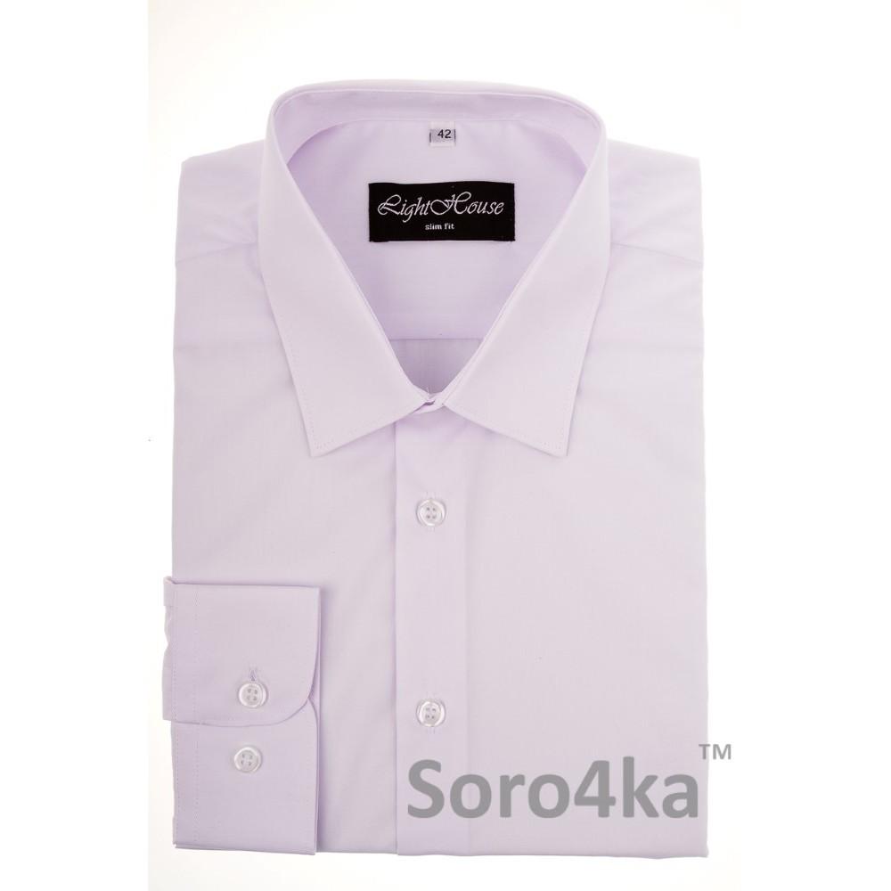 Купити білу приталену чоловічу сорочку Light House бренд. Безкоштовна  доставка по Україні abc93697b2806