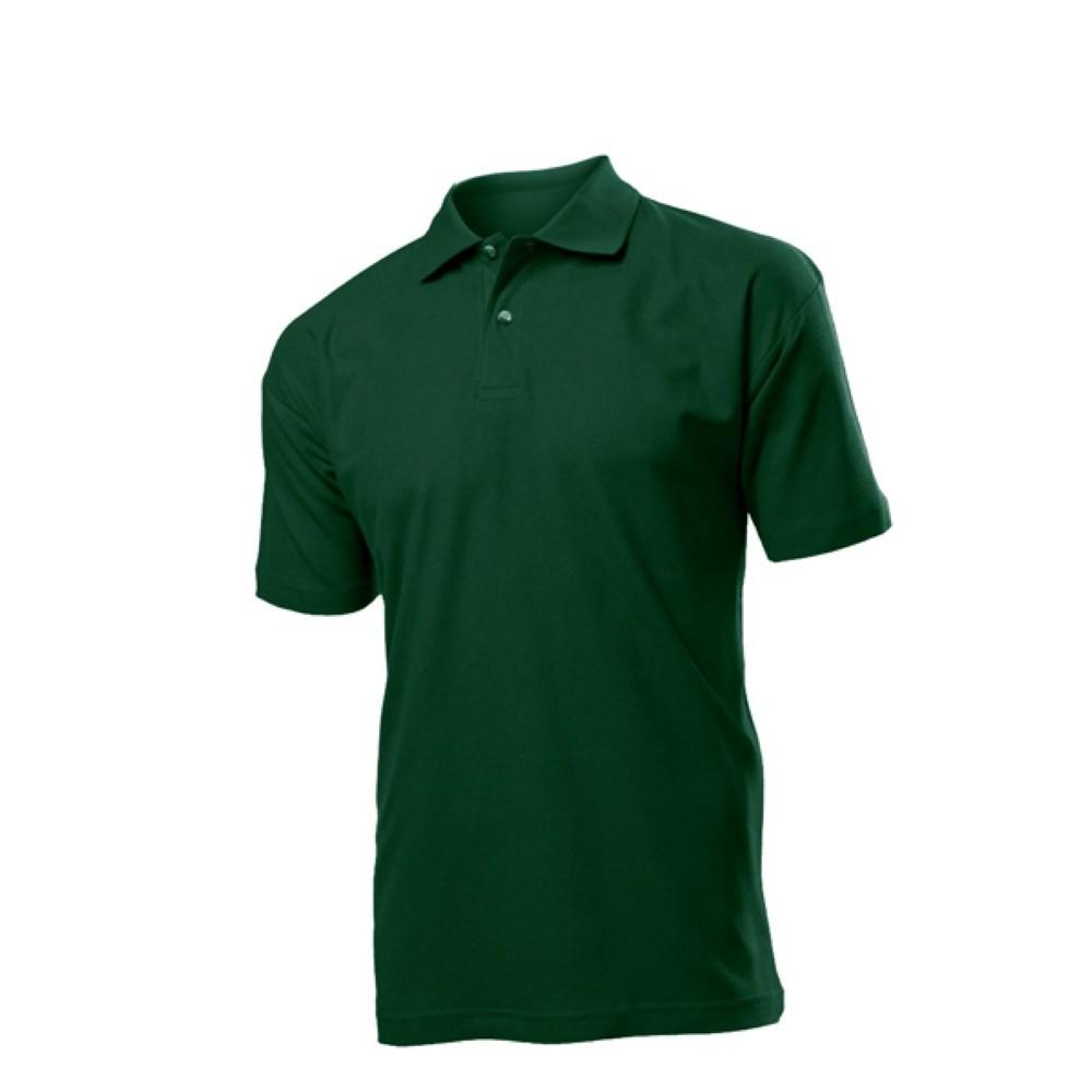 Темно-зелена сорочка поло на короткий рукав 100% котон  9fdcdda1cf4e5